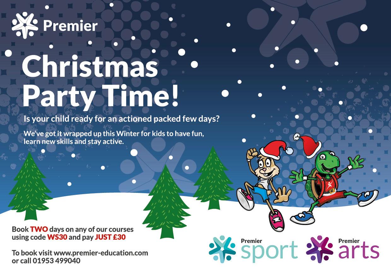Premier Education / Premier Sport / Premier Arts A6 Christmas Flyer