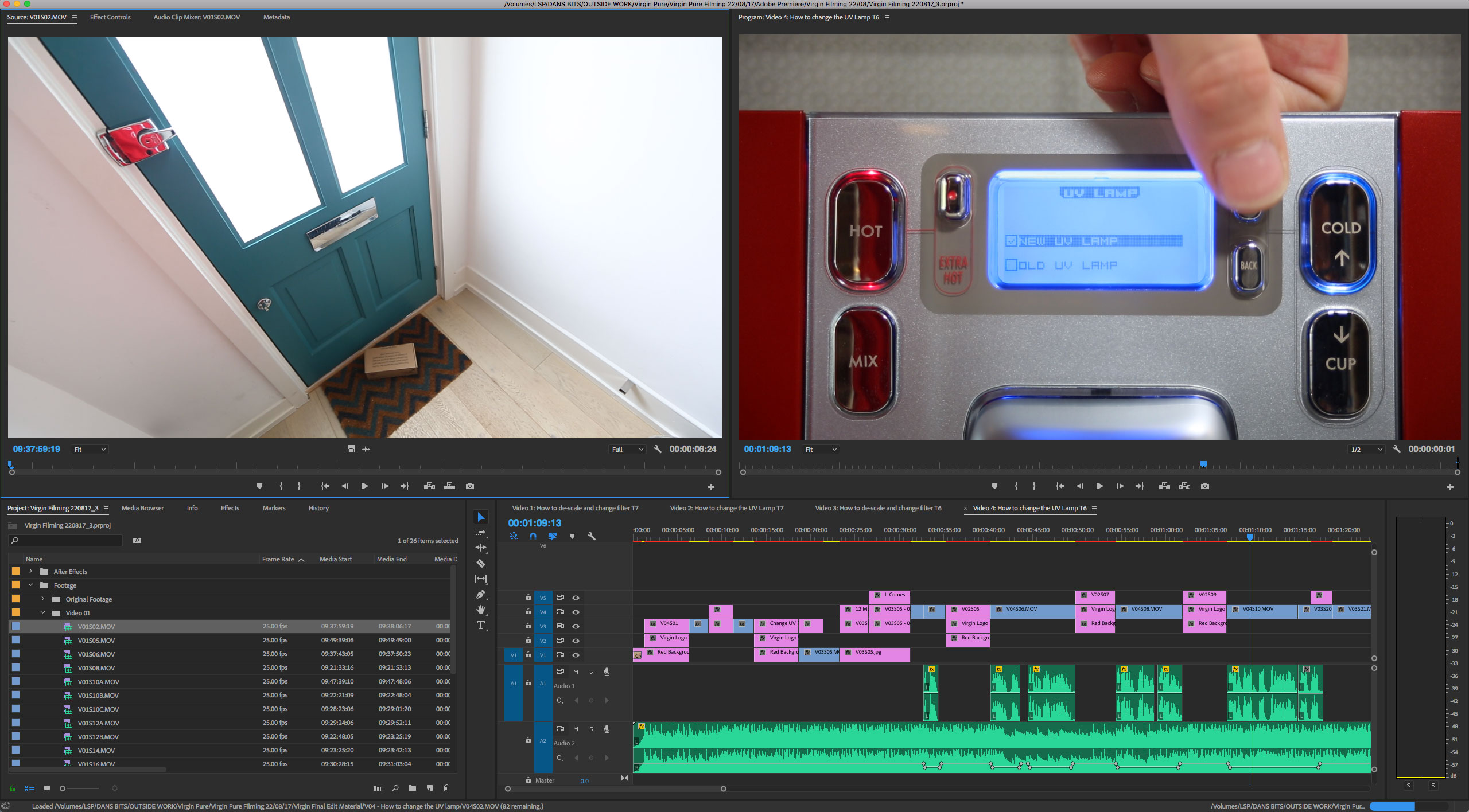 Video Editing For a Virgin Pure Demonstration Film