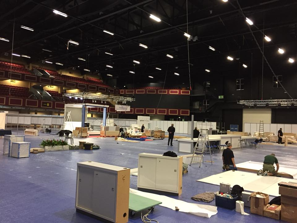 ISCoS Exhibition Build Area in Dublin