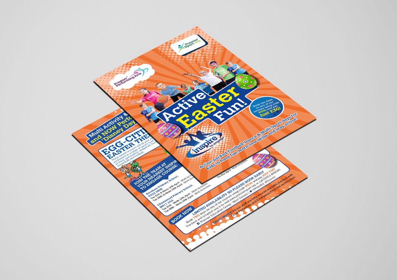 Premier Education / Premier Sport A6 Easter Flyer