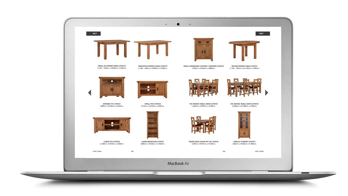 JTW Printed Furniture Brochure - Inside DPS Layout Design