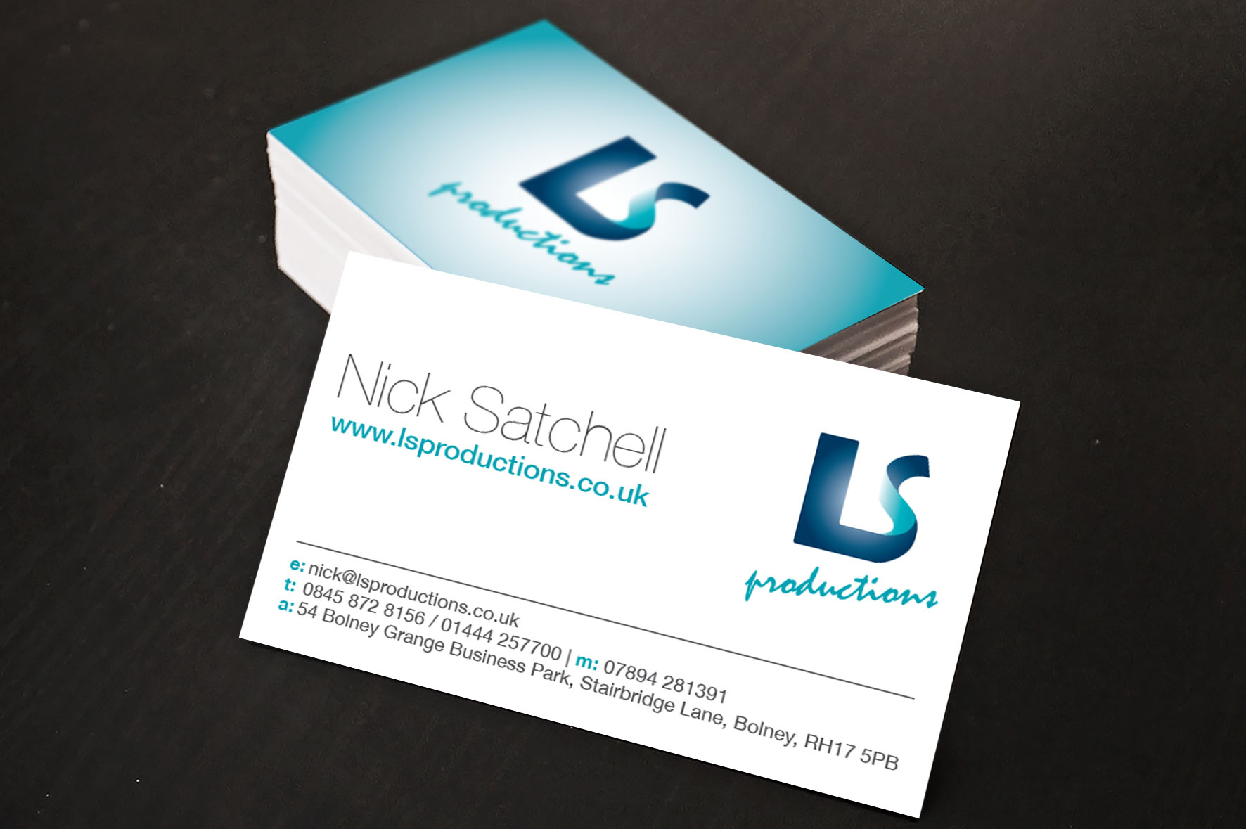 LS Productions Business Cards