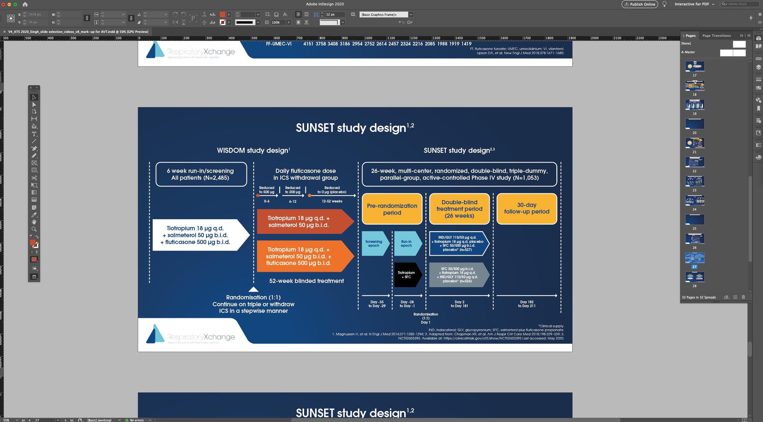 Screen shot from Adobe InDesign of a presentation slide