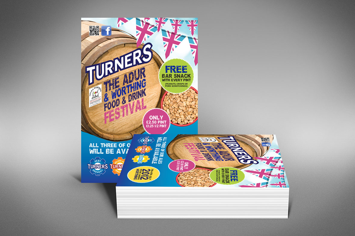 Turners Printed Event Flyer