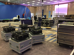 Setup & Rigging Day for a Large Conference