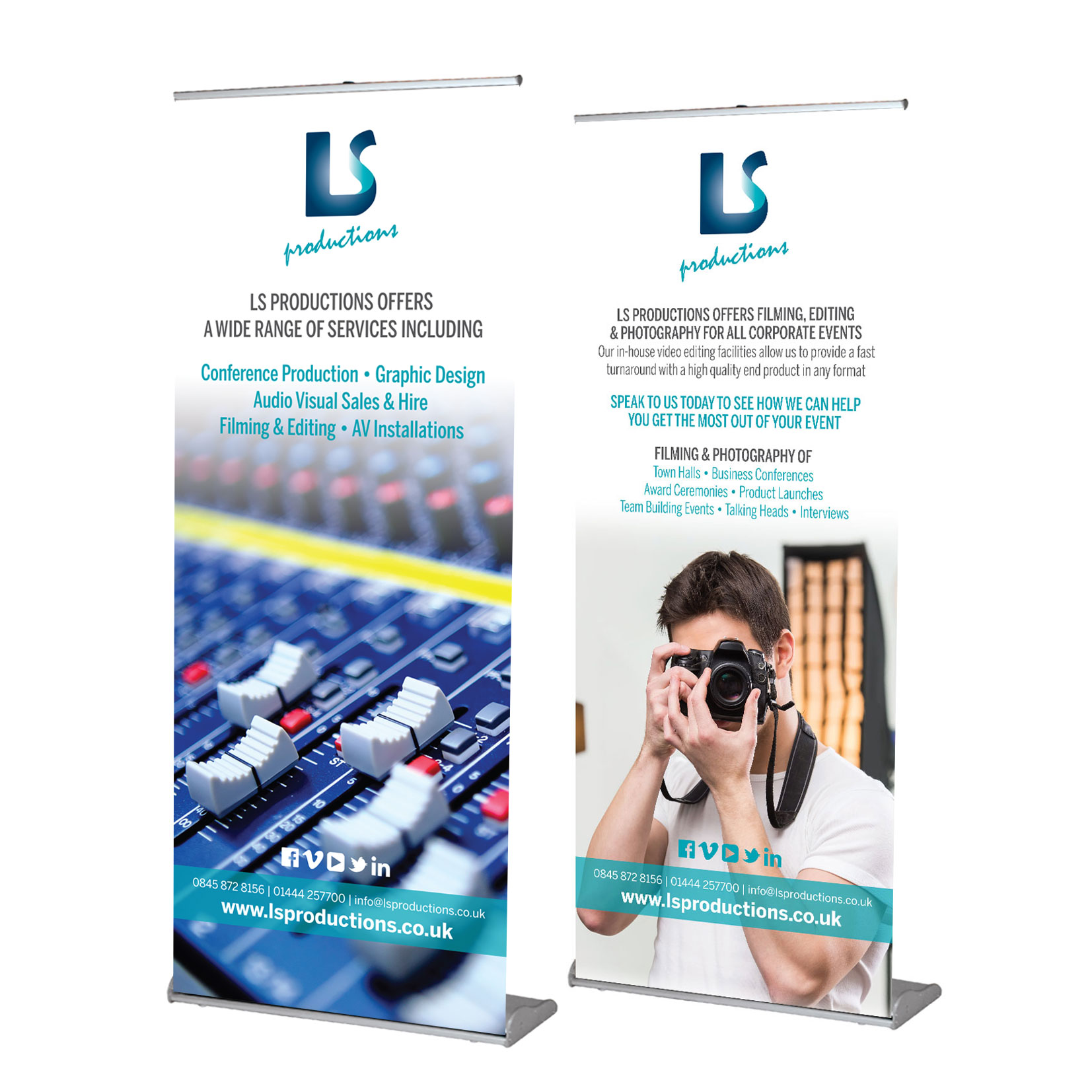 LS Productions Pull Up Banners