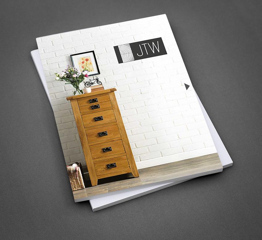 JTW Printed Furniture Brochure - Front Cover Design