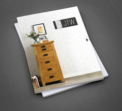 JTW Printed Furniture Brochure - Front Cover Design