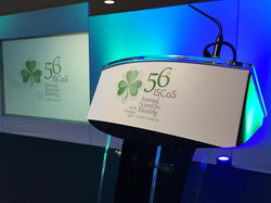 ISCoS Conference Event in Dublin - Stage Area (Lectern)