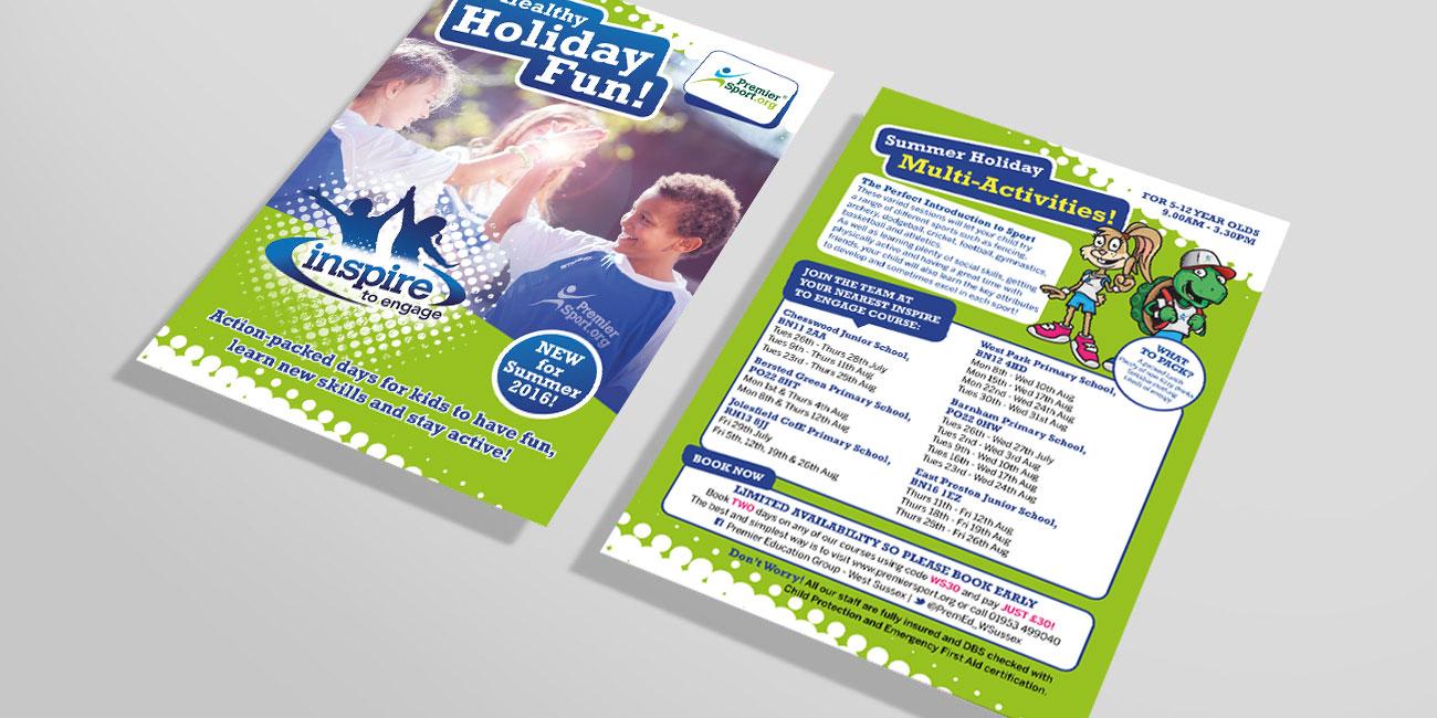 Premier Education / Premier Sport A6 Holiday Fun Flyer