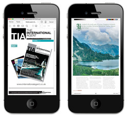 TIA Magazine Viewed on iPhone