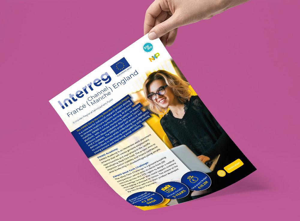 HexTransforma's Interreg / EWWD A4 Digital & Printed Flyer