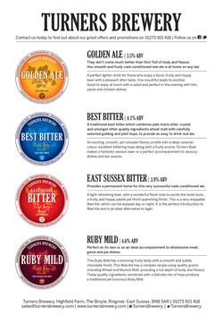 Turners Beer Info Sheet