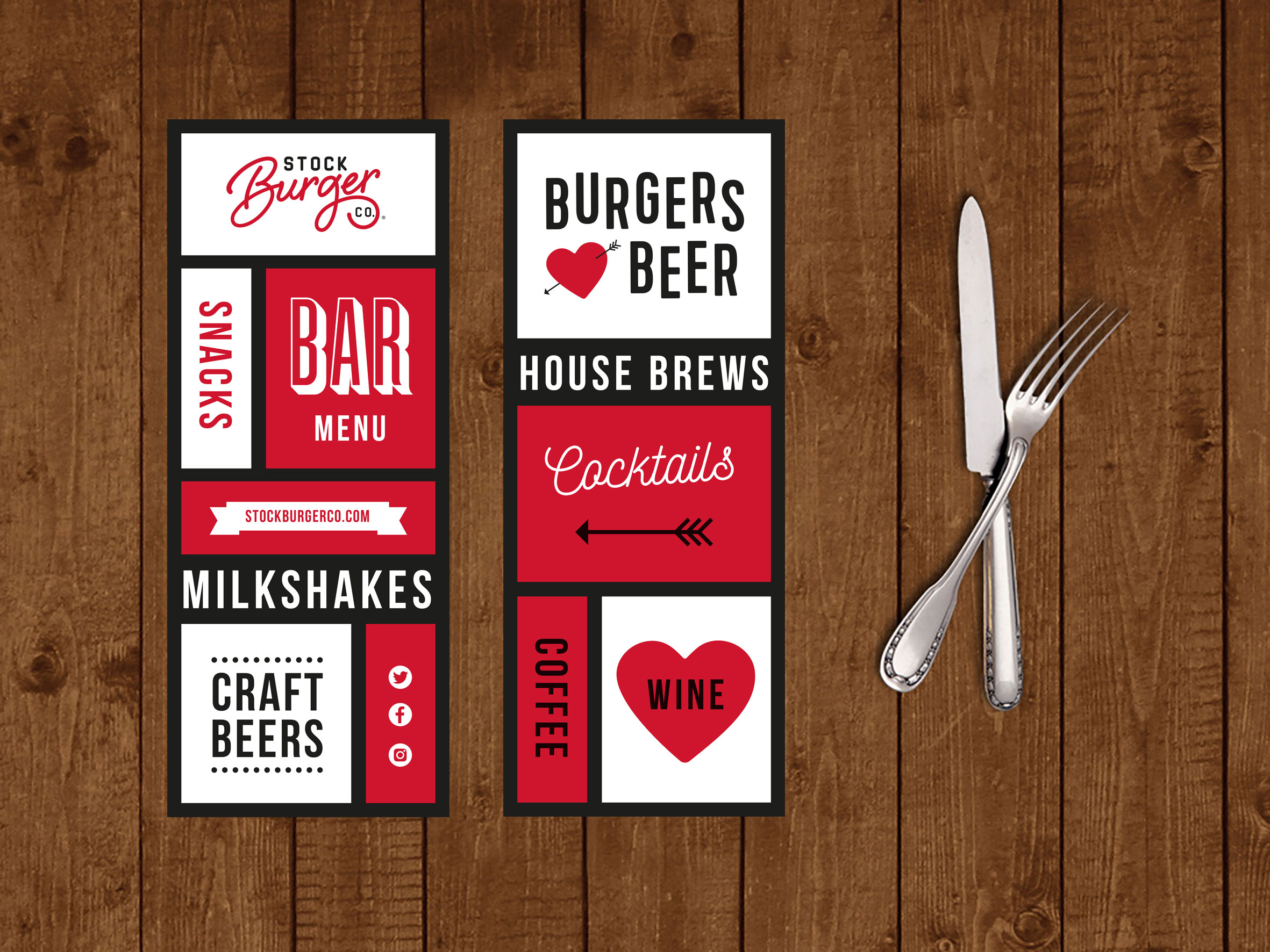 Stock Burger Bar Menu