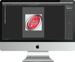 Oliviers Pump Clip Logo on iMac