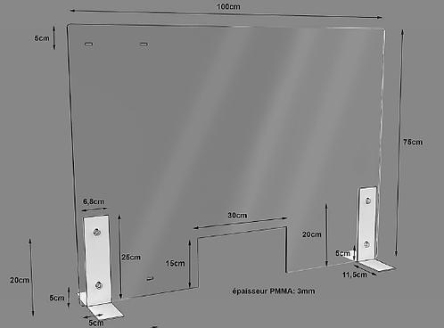 Séparateur en Plexiglas