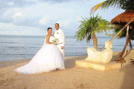 A destination wedding in Mexico.