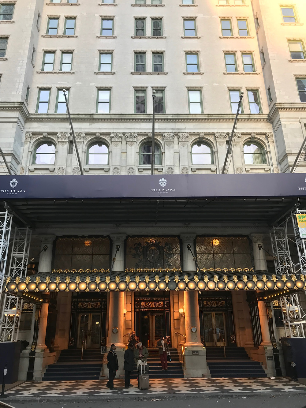 Main entrance of the Plaza Hotel