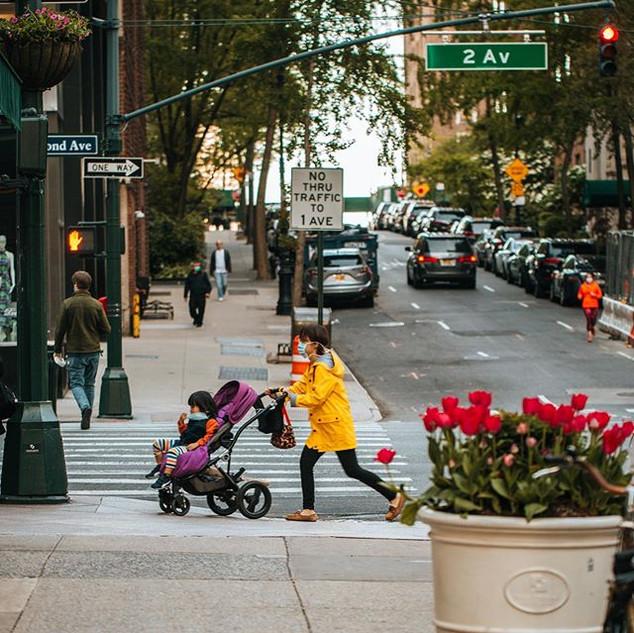 2nd Avenue and 41st Street, Tudor City, Manhattan, May 2020, New York