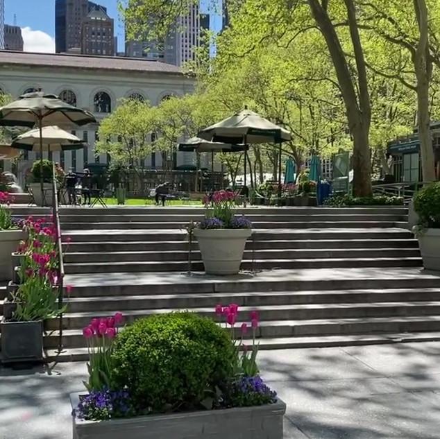 Bryant Park, 42nd Street, New York, May 2020