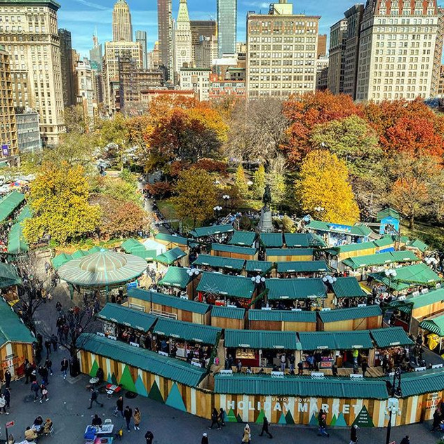 Union Square holiday market, November 2020