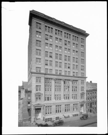 Midtown - The Polyclinic Hospital on west 50th Street, 1915