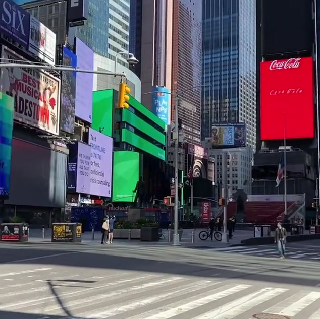 Times Square and the Naked Cowboy! May 2020