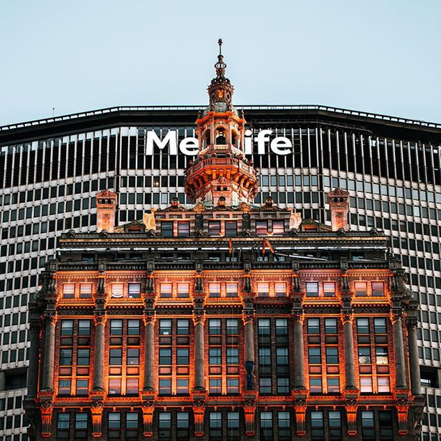 The MetLife building and the Helmsley Building, captured from Park Avenue and 50th Street, Manhattan, New York, June 2020