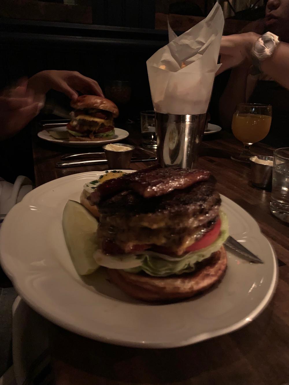 Burger at AuCheval Diner