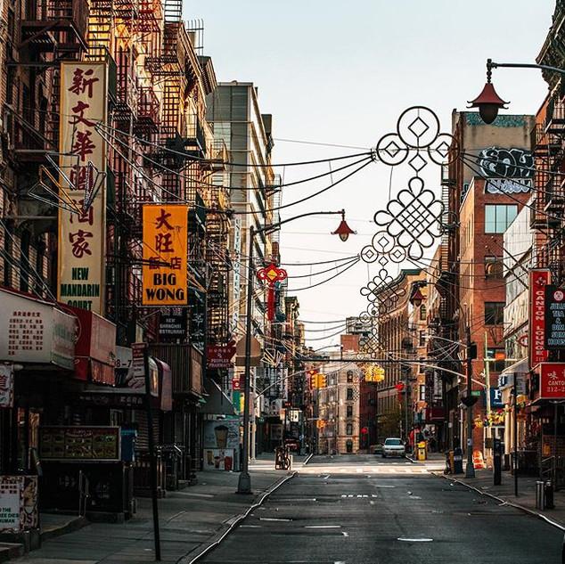 Mott Street, Chinatown, Manhattan, New York, April 2020