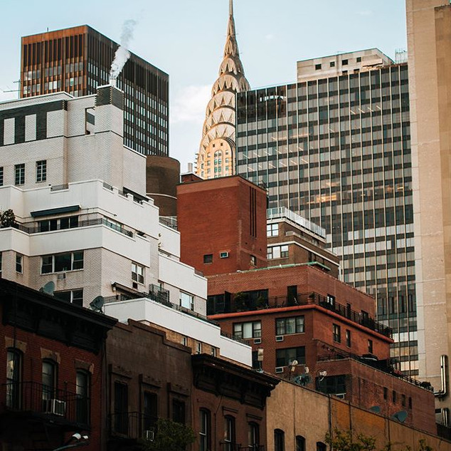 View of the Chrysler Building from 2nd Avenue and 34th Street, Murray Hill, Manhattan, New York