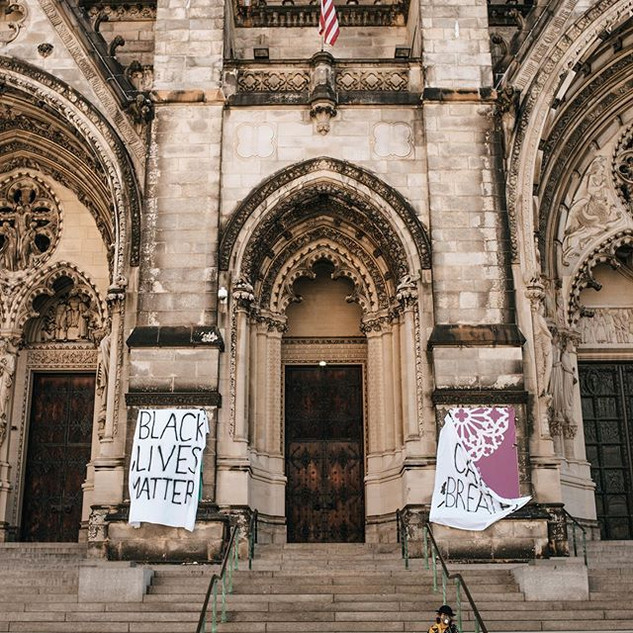 Cathedral of St. John the Divine, 1047 Amsterdam Ave, New York, June 2020