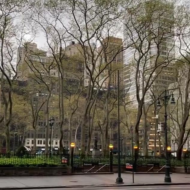 Bryant Park, end of April 2020