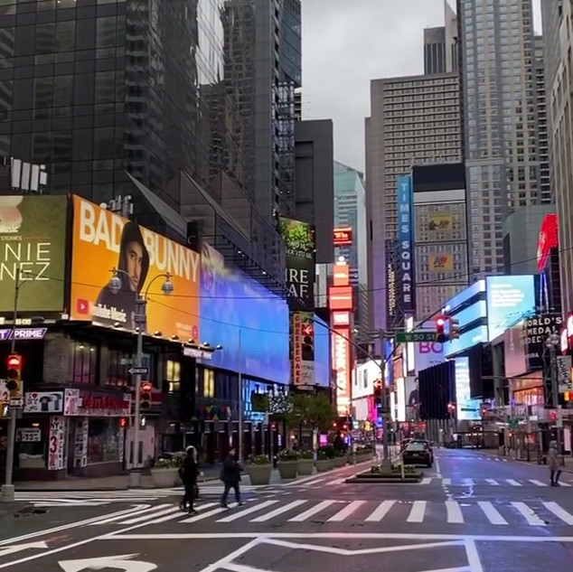 50th Street and Broadway, Times Square, April 2020