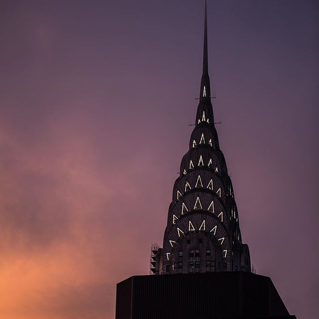 The famous Chrysler Building captured from the building where I live, 42nd Street and Lexington Avenue, New York, June 2020