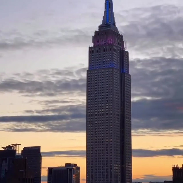 Empire State Building, sunset, May 1st 2020