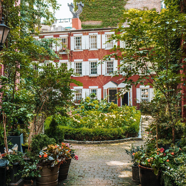 Grove Court, West Village, Manhattan, New York, August 2020