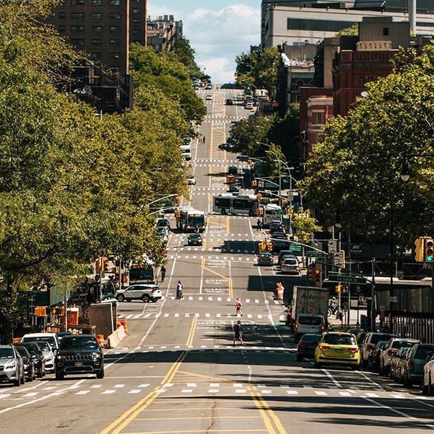 Amsterdam Avenue and 125th Street, Harlem, Manhattan, New York, June 2020