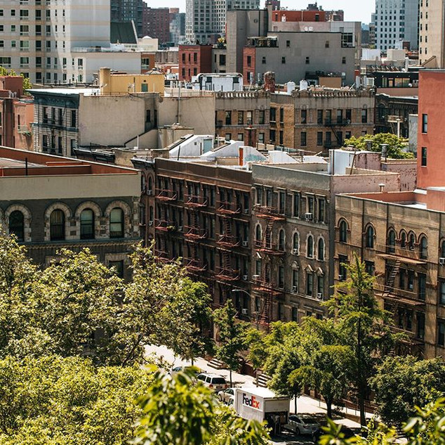 View of Harlem West from Morning Side Park, Manhattan, New York, June 2020