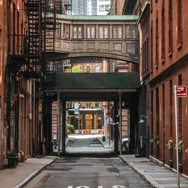 Staple Street, TriBeCa, Manhattan, New York, August 2020