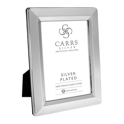Carrs - Linear Silver Plated Photo Frame Black Wood Back