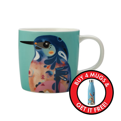 Maxwell & Williams Pete Cromer Mug - Azure Kingfisher
