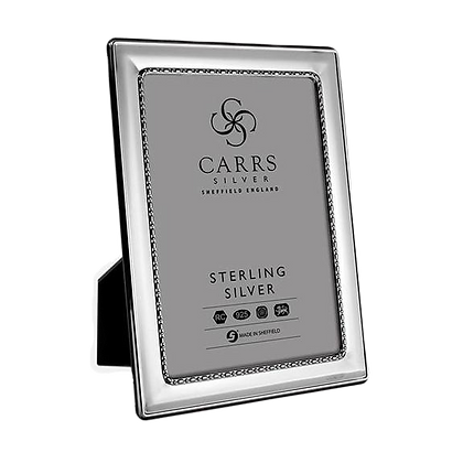 Carrs - Egg & Bead Sterling Silver Photo Frame