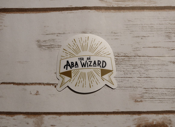 ABA Wizard Cutout Sticker - clear background