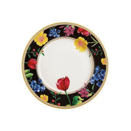 Maxwell & Williams Teas & C's Contessa Rim Plate 19.5cm Black Gift Boxed