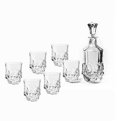 Bohemia Crystal Soho Whisky Set (1 Decanter + 6 Tumblers)