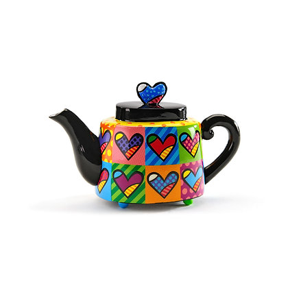 Britto Mini Teapot Figurine - Hearts