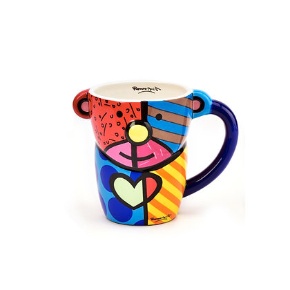 Britto Ceramic Figural Animal Mug - Teddy Bear