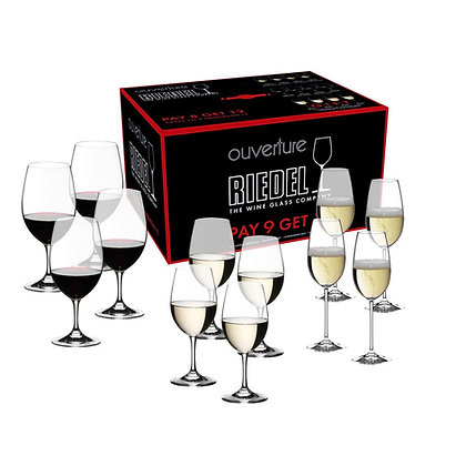 Riedel Gift Sets Ouverture  Glass Pay 9 Get 12