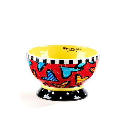 Britto Ice Cream Bowl Heart Yellow, 12 oz